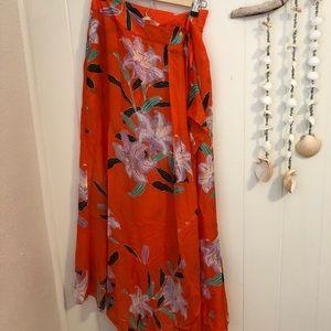7b7756573218c Diane Von Furstenberg Skirts - Diane Von Furstenberg Draped Wrap Beach Skirt